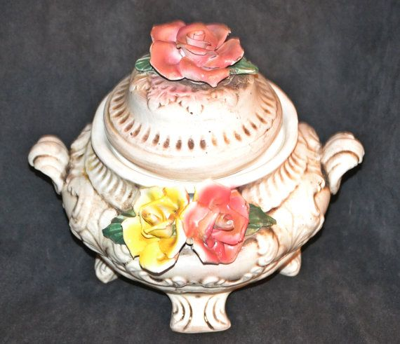 Capodimonte Soup Tureen Ceramic Soup Tureen Made by Collectitorium
