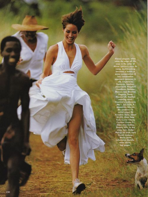 """Tropical Whites"", Vogue US, May 1990"