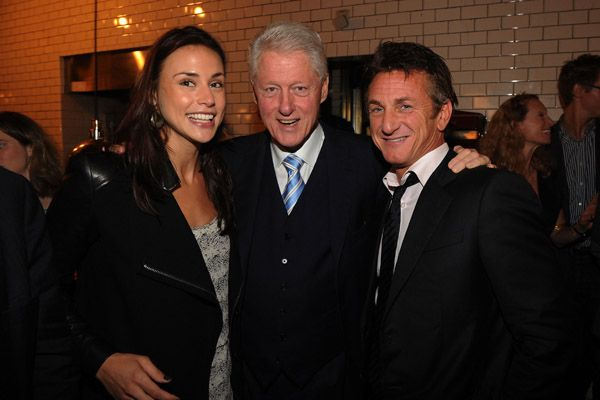 Bill Clinton's Latest Girlfriend | Sean Penn and girlfriend Shannon Costello with former U.S. President ...