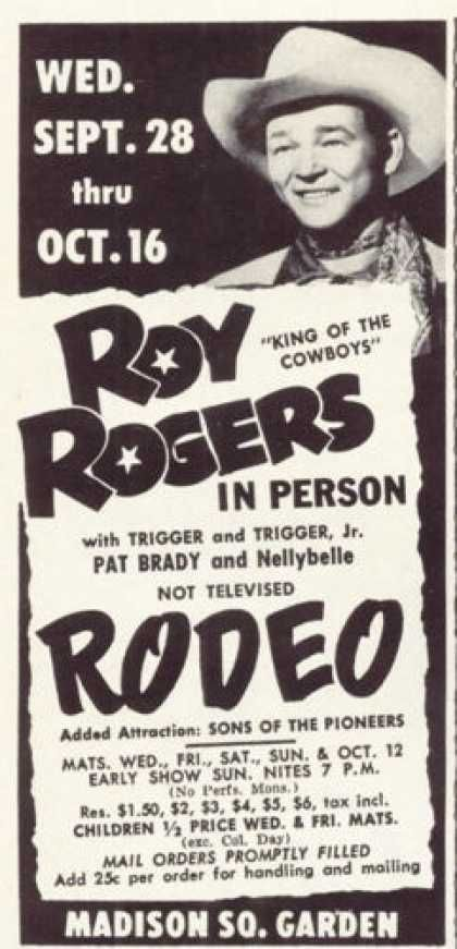 rodeo movies | Vintage Movies, Theater and Entertainment Ads of the 1950s (Page 10)
