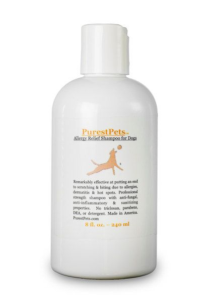 Allergy Relief Shampoo for Dogs Medicated Dog Shampoo 8-ounce (14.00 USD) by PurestPets