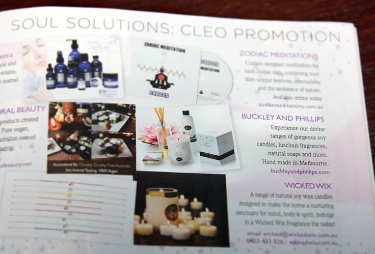 Buckley & Phillips - New Leaf ad. Cleo & Cosmo Magazines. June/July 2012.