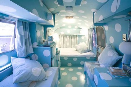 The Grand Daddy Hotel in Cape Town, South Africa, shipped seven Airstreams across the ocean to build a rooftop trailer park for guests. Designed by local creatives, these whimsical suites allow visitors to live out their trailer park dreams.