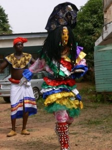 The Beautiful Spirit: Adamma which literary means beautiful maiden is the most beautiful among all the masquerades. Its main purpose is just to entertain its audience. It represents beauty and joy and can dance all day.