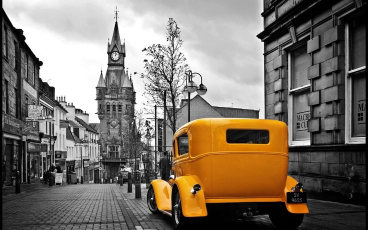 Cityscapes Streets Selective Coloring