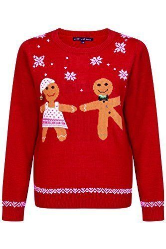 Novelty Womens Christmas Jumpers Ladies Knitted Sweater Top Amazon