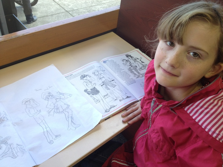 Amy drawing Manga characters at Ivanhoe library :)