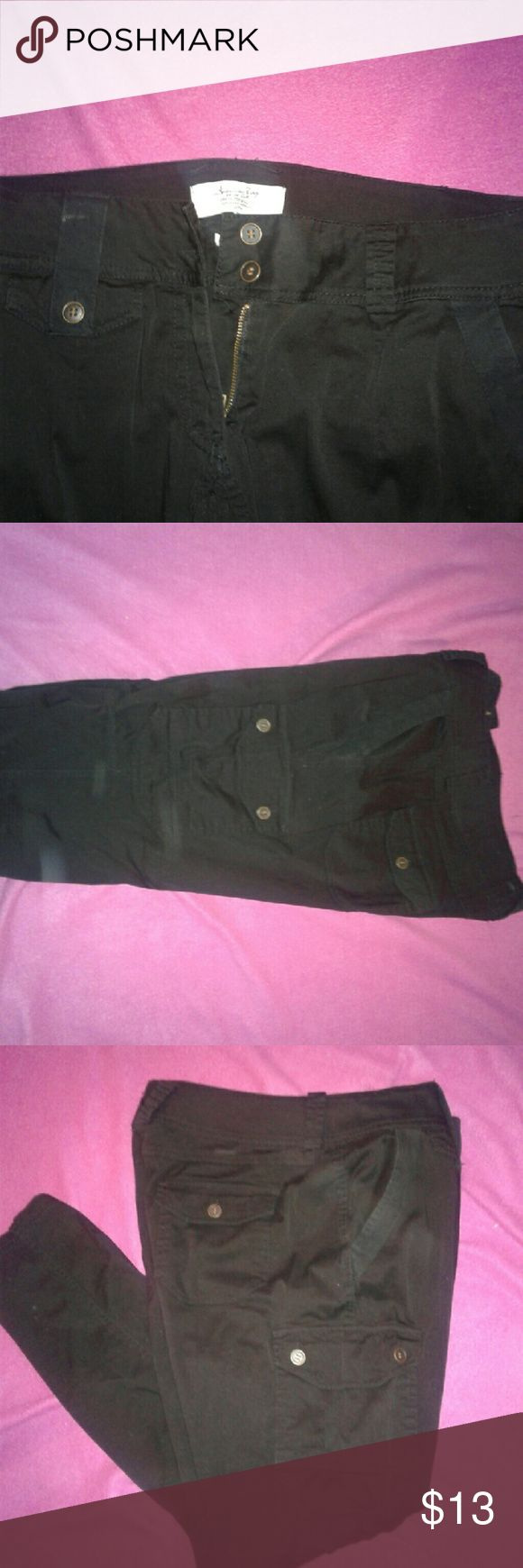 American Rag cargo pants American Rag size 15 black cargo pants American Rag Pants Skinny