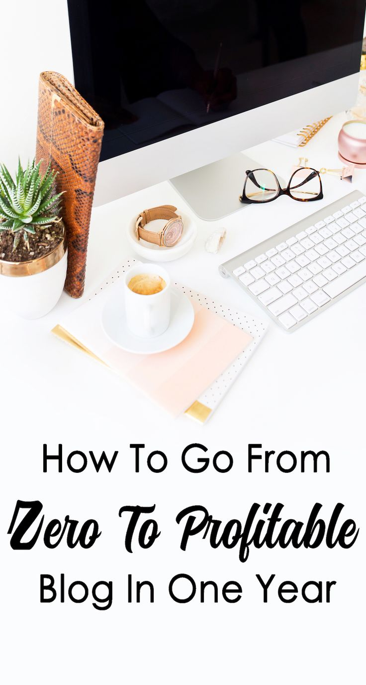 How To Go From Zero To Profitable Blog In One Year