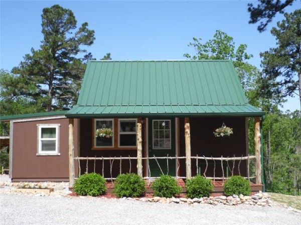 tiny home on homestead near eureka springs ak for sale 001 600x450   416 Sq. Ft. Whimsical Tiny Home on 2.79 Acres for Sale