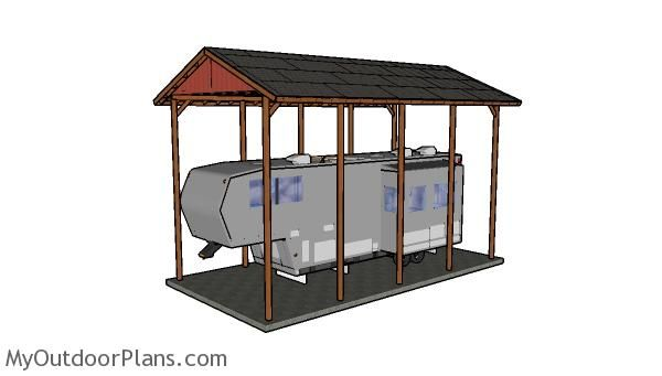 Best 25 rv carports ideas on pinterest rv shelter Motorhome carport plans
