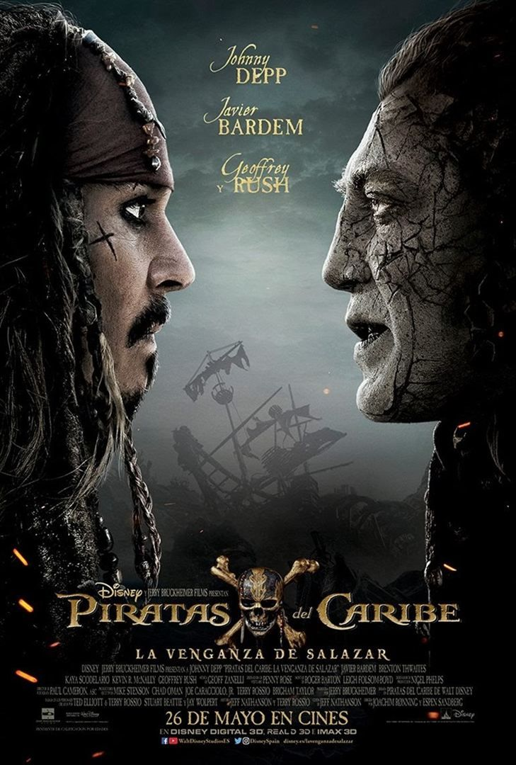 El Tridente de Poseidón salva a la saga. Seis años después vuelve Jack Sparrow y su tripulación con una nueva historia de aventuras y un nuevo antagonista para darnos lo que ya esperamos: entreteni…