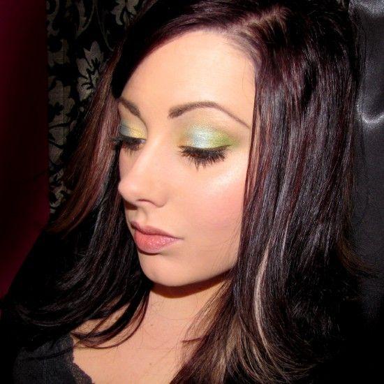 Products Used: (all MAC unless noted) Eyes: Painterly Paintpot  (eBay) Goldmine Eyeshadow- inner 1/3 of lid   (MAC) Talent Pool Eyeshadow- middle 1/3 of lid  (eBay) Lucky Green Eyeshadow- outer 1/3 of lid  (MAC) Modellete Eyeshadow- crease  (MAC) Loreal Voluminous Mascara Dipdown Fluidline (MAC) Cheeks: NYX Natural Blush (Makeup Geek [...]