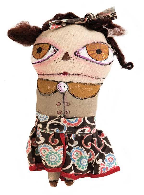 Festive, Funky Art Dolls and Softies | Halloween Ideas for Mixed-Media Artists - Cloth Paper Scissors