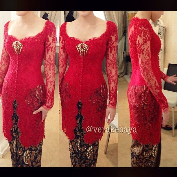 Love the red. KEBAYA EKSKLUSIF www.venzakebaya.net https://www.facebook.com/venzakebaya?ref=hl