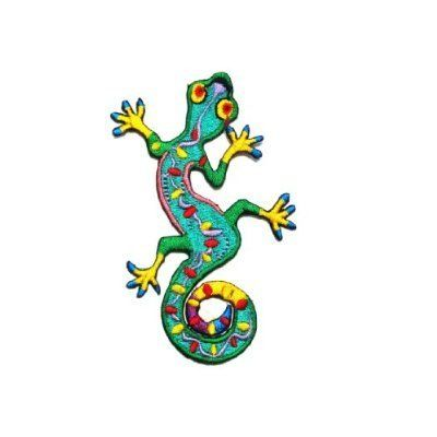 Lizard Gekko Salamander Retro Hippie Hippy Boho 70s Appliques Hat Cap Polo Backpack Clothing Jacket Shirt DIY  Iron on Patch Great Gift for Men and woman by KLB TRADE ** Check out the image by visiting the link. (Note:Amazon affiliate link)
