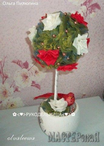 Работа Топиарий с розами автор olvaleewa, в технике Топиарий, Украшение дома