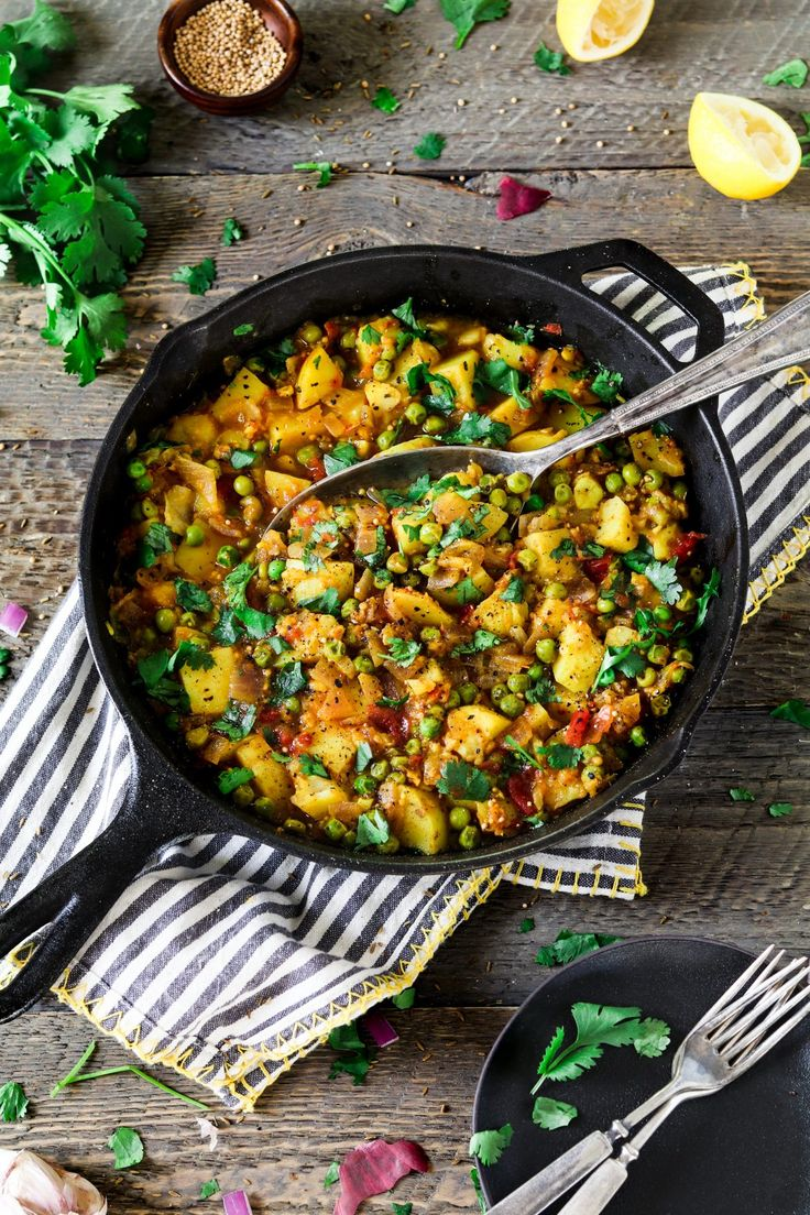 These Bombay Potatoes and Peas are warm-spiced, savory and total comfort on a plate! The recipe for these delicious Bombay Potatoes and Peas is straight out of Richa Hingle's new…