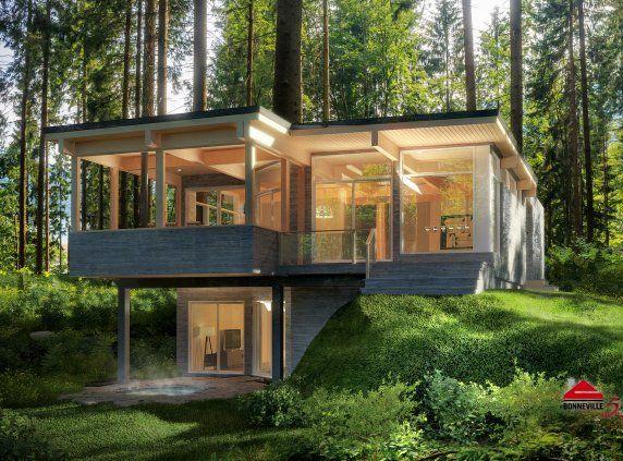Maison module bois ici pergola terrasse en bois et for Villa modulaire martinique