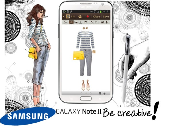"""""""Create a Downtown Muse look for a chance to win a Samsung GALAXY Note II!"""" by angela-windsor ❤ liked on Polyvore"""
