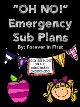 Have you ever had an emergency and had to be out for a few days!? The panic in that situation is too much to handle. I created this emergency sub plan packet to lay out a weeks worth of work for my students. I also included important pages that give information to the substitute.