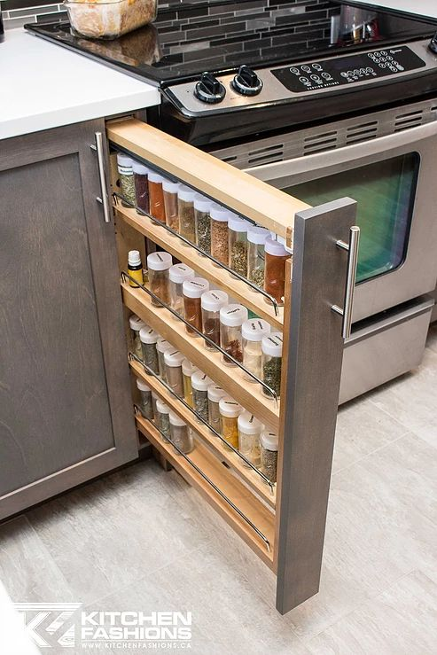 Slim Pull Out Spice Rack Hidden Treasures Pinterest