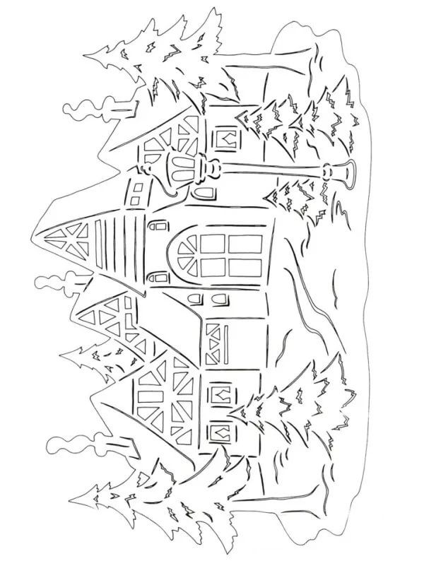Christmas stencils to cut out of paper on the windows: 24 thousand images found in Yandeks.Kartinki