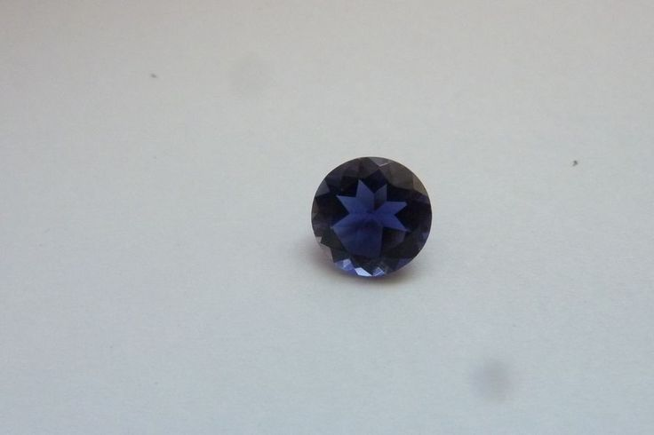 1.54 Cts Round Shape Blue Color 100% Natural Iolite Loose Gemstone ~ 8*8 MM #KinuBabaGems