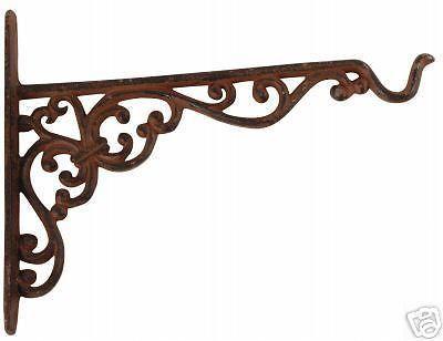 Cast Iron Decorative Hanging Basket Bracket Ex Large x 4 | eBay