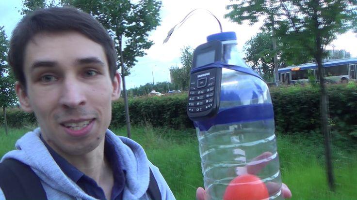 Взрываю Бутылку с помощью мобильного Телефона !