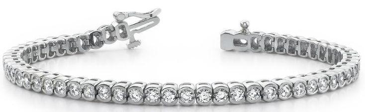 Diamant Armband mit 1.00 Karat Diamanten aus 585er Weißgold bei www.diamantring.be für nur 2299.00 Euro Versandkostenfrei bestellen.