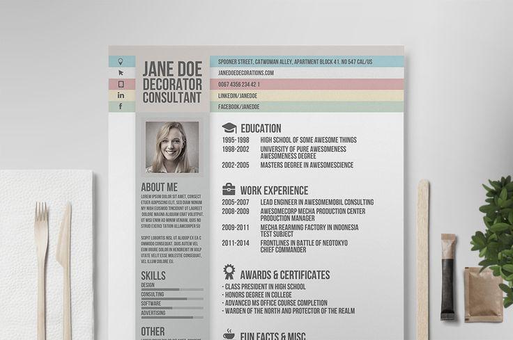 Creative Resume Vol.2 by Tugcu Design Co. on @creativemarket