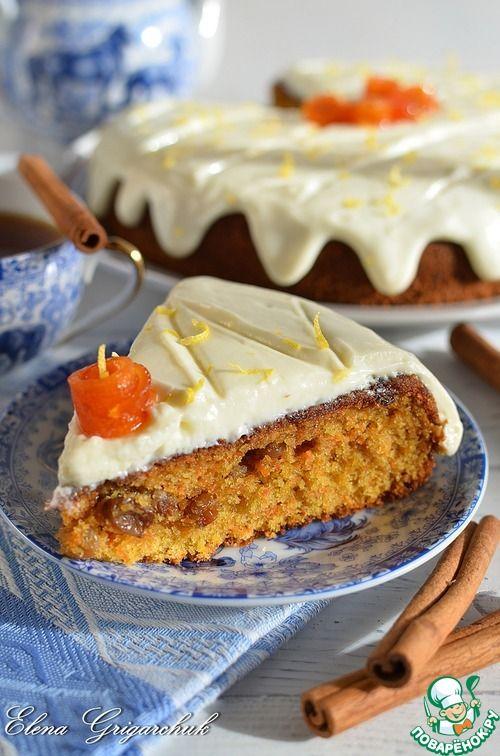 Морковный пирог с лимонным кремом - кулинарный рецепт