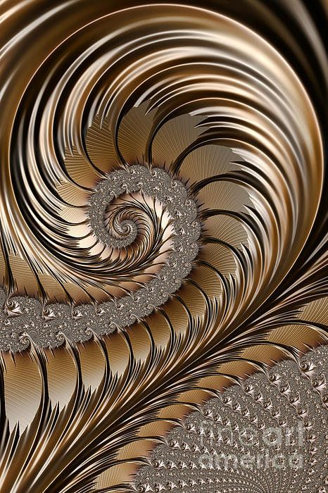 """Bronze Scrolls"" - fractal art by John Edwards"