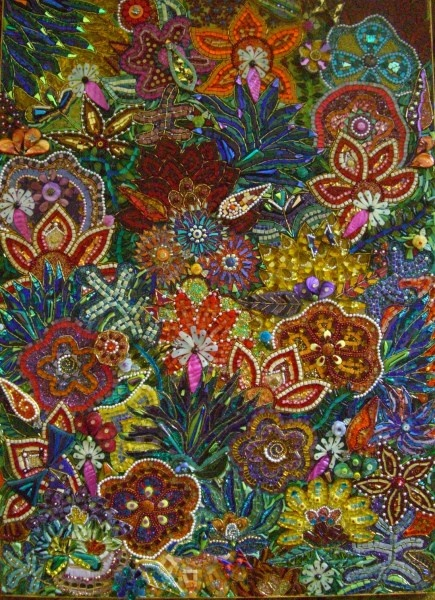 Beautiful mosaic flower work from mosaicsandceramics.ning