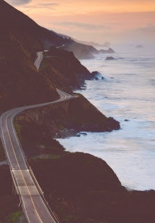 coastal drive at dawn