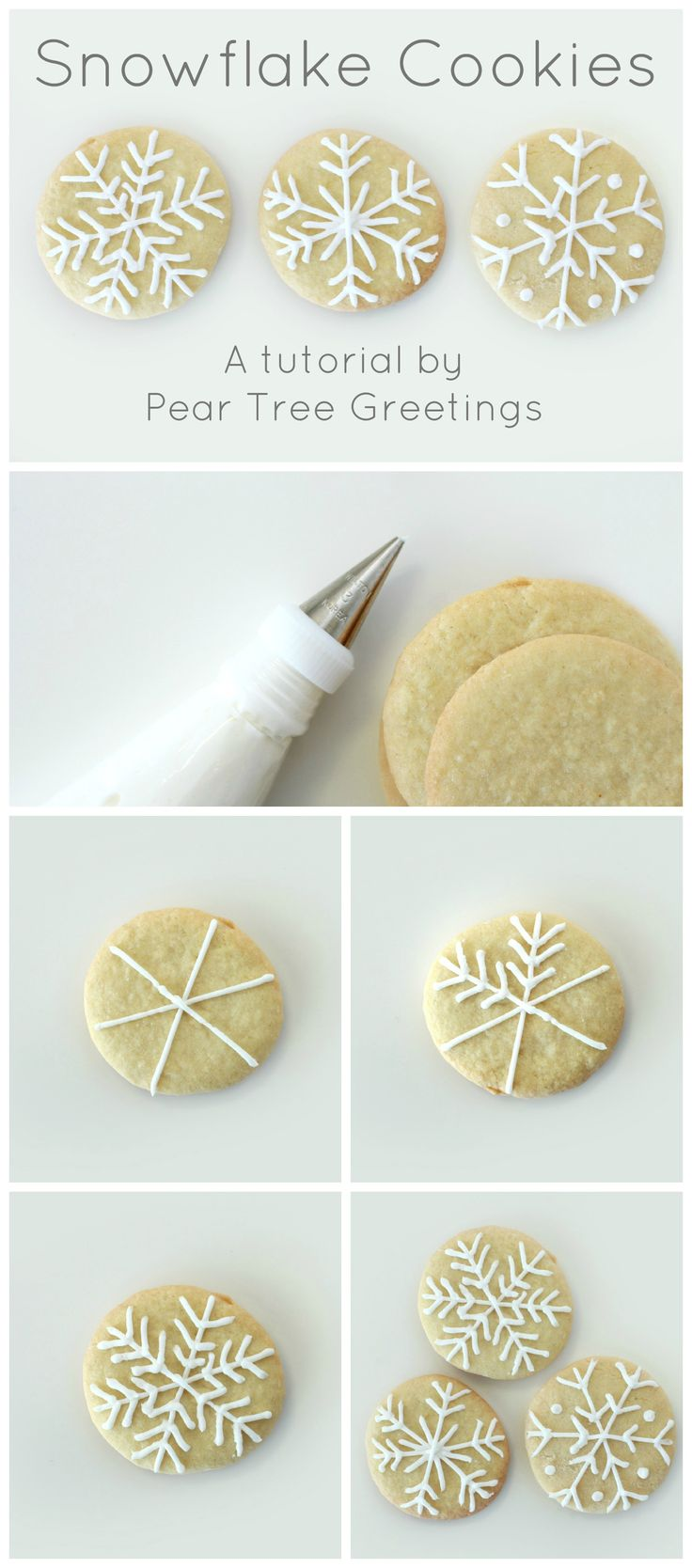 Learn how to make a these snowflake Christmas cookies that are sure to impress your family! http://www.peartreegreetings.com/blog/2014/12/how-to-make-snowflake-christmas-cookies/