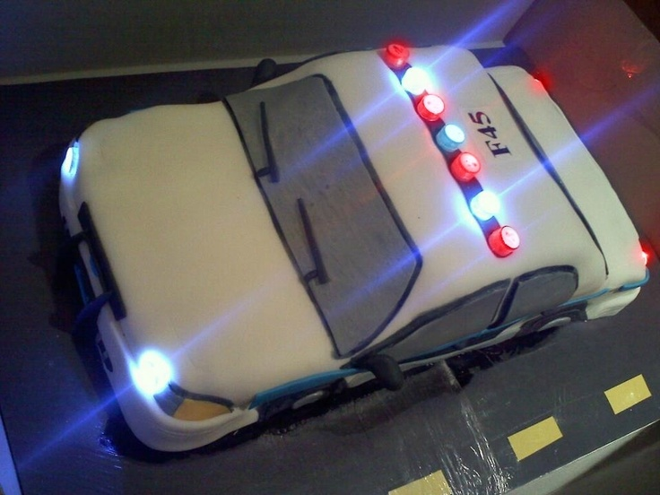 Police Car Cake - Got the lights from Blinkee.com!
