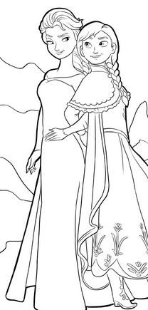 frozen cartoon characters coloring pages - photo#44