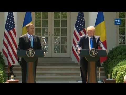 President Trump Fires Back at James Comey - Full Press Conference with President of Romania June 9,;2017 - YouTube