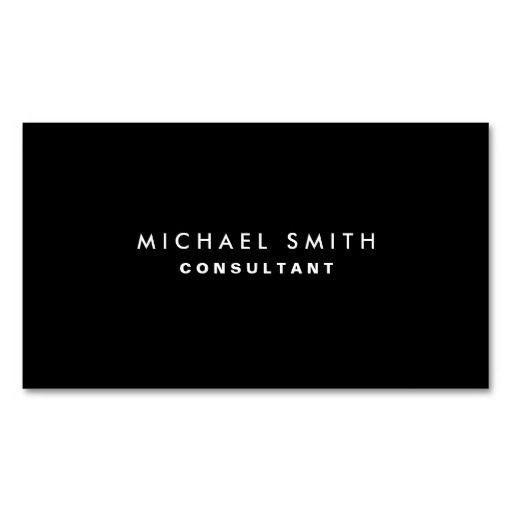 257 best elegant business cards images on pinterest elegant black professional elegant modern plain simple business card flashek Image collections