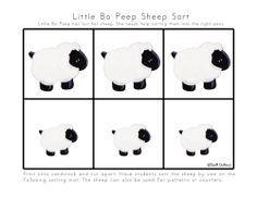 PRINTable -  Little Bo Peep - Nursery Rhymes:- Spell Out Loud
