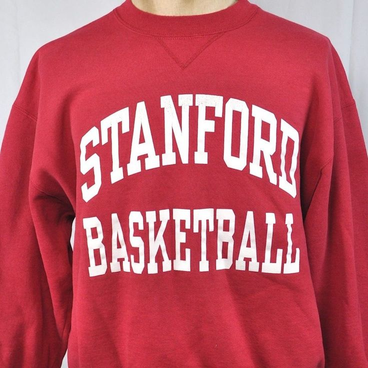Stanford Basketball Vtg Crew Sweatshirt XL Mens Russell Athletic USA Made NCAA #RussellAthletic #StanfordCardinal