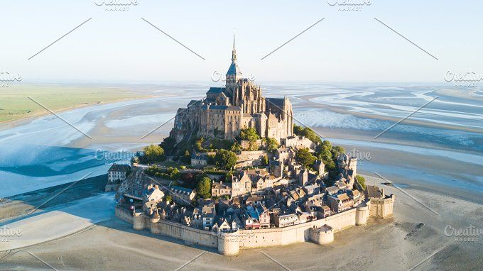 Le Mont Saint-Michel tidal island by 5max on @creativemarket