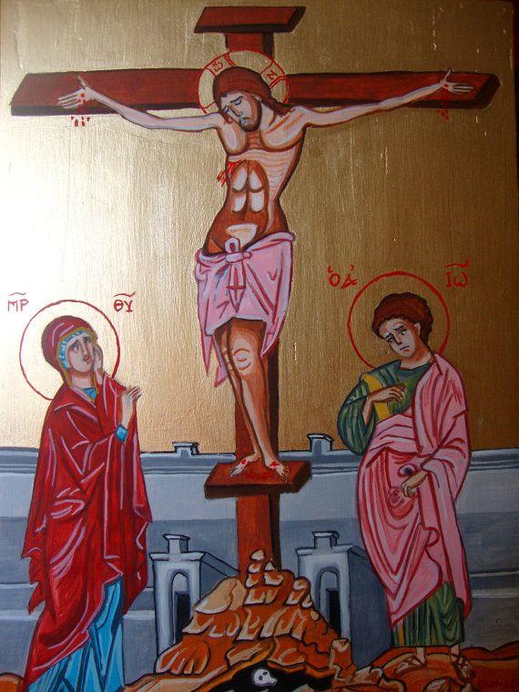 Jesus  Stavrosis  Original Handmade Greek by SilveradoJewellery