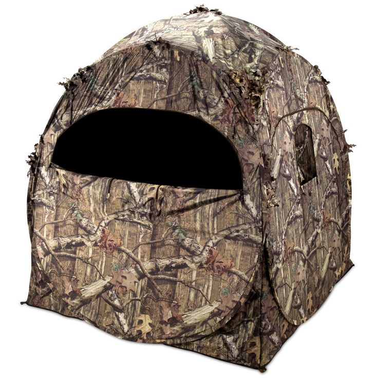 The Ameristep hunting blind features shoot-through mesh and comes with a backpack carrying case, so you'll be able to easily transport it through any kind of terrain. Whether you're hunting game , thi