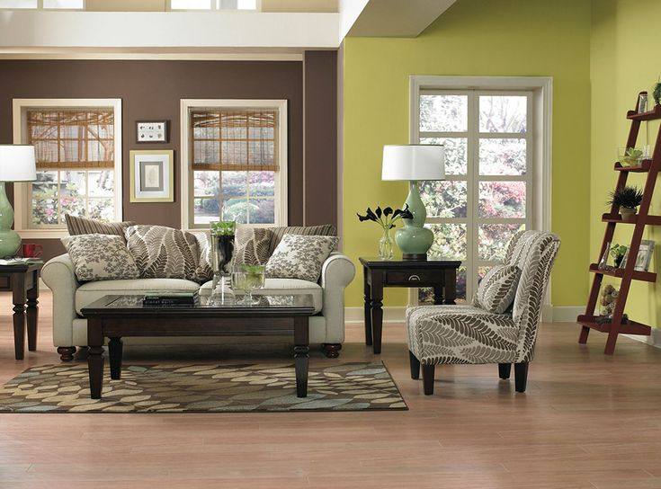 The Brown Wall Works Well With The Lime Green In The Adjacent Room,  Creating A. Warm Color ... Part 82
