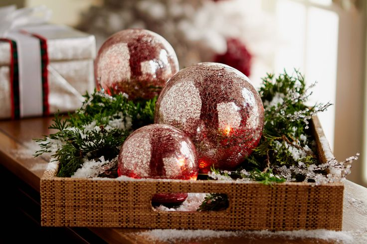 Beautiful Glass Spheres have a vintage look and illuminate using a timer function.  Set of 3.  H205281 http://qvc.co/-Shop-ValerieParrHill