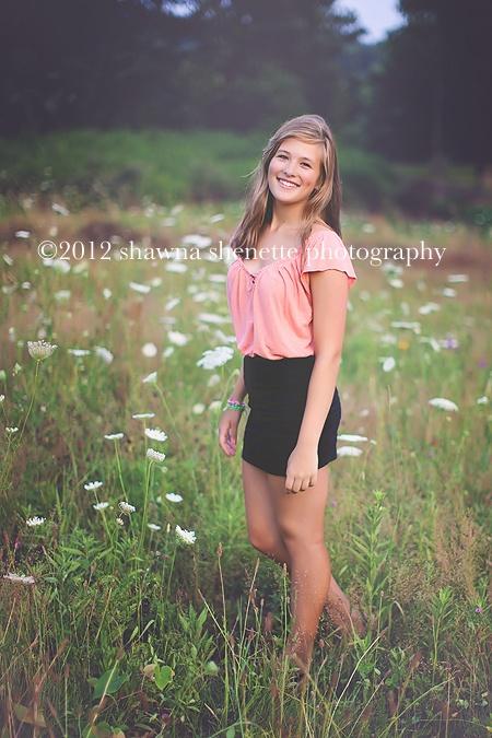 Senior Photography Girl Outdoors Field Worcester Senior Photographer