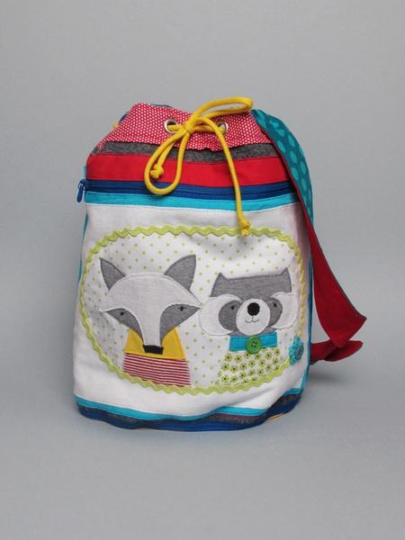 Kindergartentasche 'Fuchs und Waschbär' // Child's bag 'fox and raccoon' by --Seommerspross-- via DaWanda.com